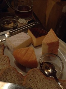 Cheese plate at Poechenellekelder